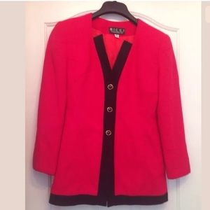 NWT BICCI by Florence wachter red jacket size 4